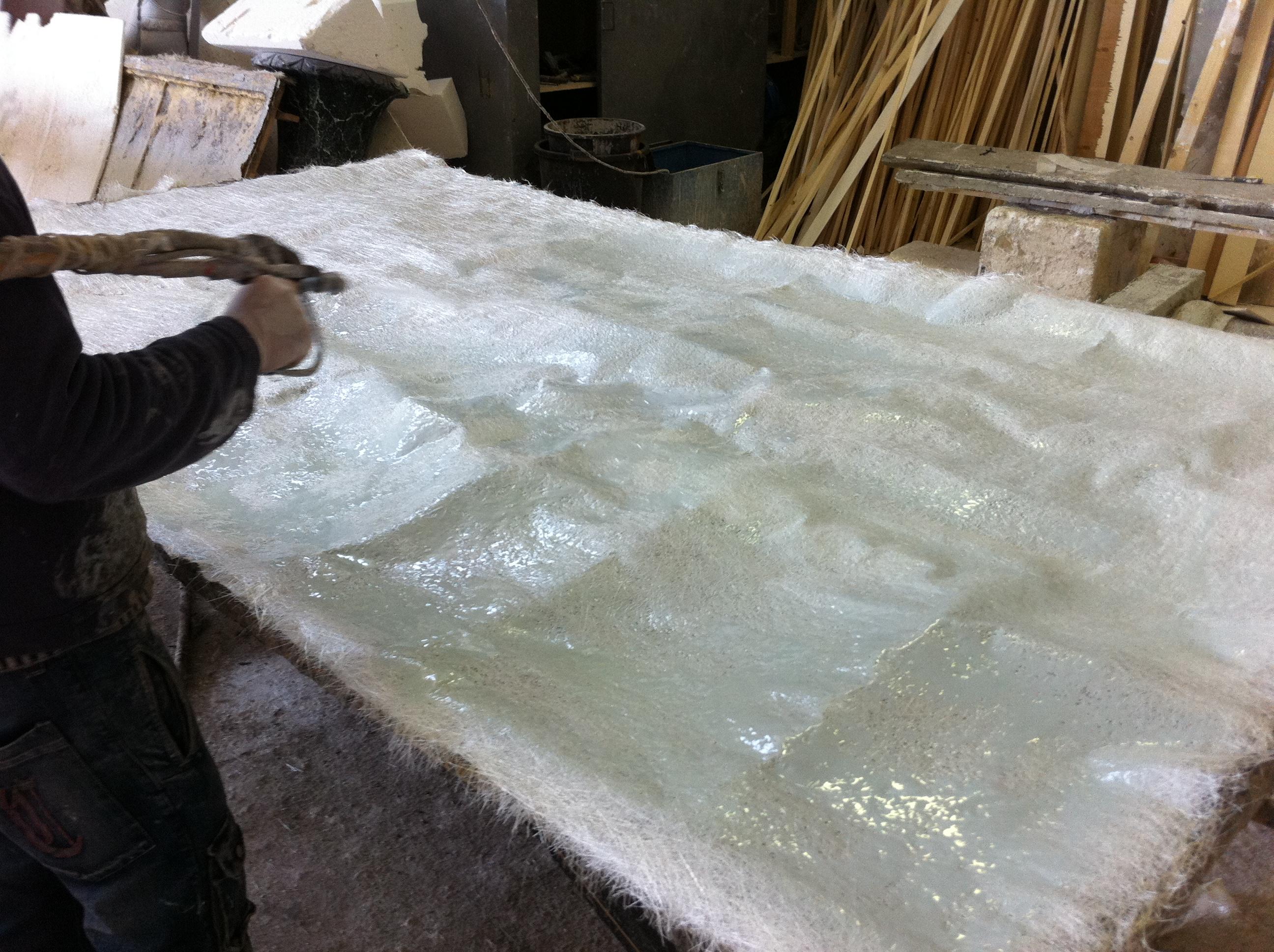 Lavorazione resina e poliurea poliurea e resina for Scenografie in polistirolo